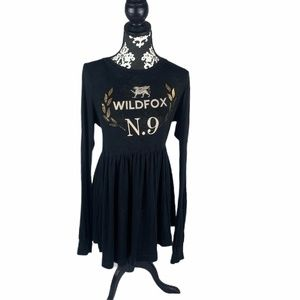 Wildfox N. 9 Long Sleeve Black Dress